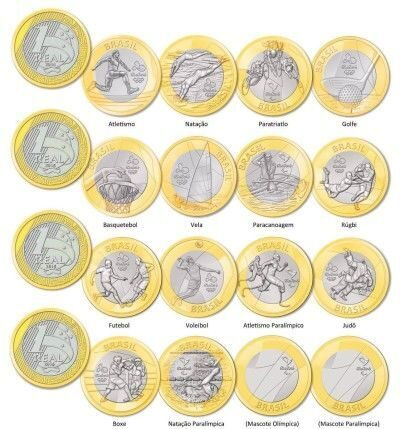 Юбилейные монеты бразилии олимпиада альбомы для нумизматов в