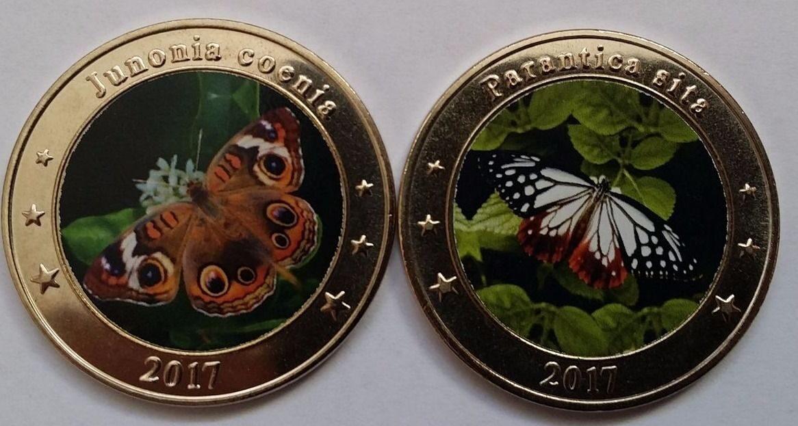 Монеты бабочки знак зодиака 2002